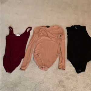 Lot of 3 Forever 21 Body Suits -Size Small